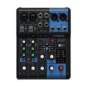 YAMAHA MG06X มิกเซอร์ 6-Channelinput 2 Mic / 6 Line Inputs (2 mono + 2 stereo) พร้อม Effects
