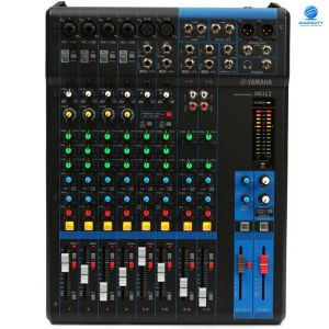 YAMAHA MG12 12-Channel Mixing Console: Max. 6 Mic / 12 Line Inputs (4 mono + 4 stereo) / 2 GROUP Buses + 1 Stereo Bus / 2 AUX (incl. FX)