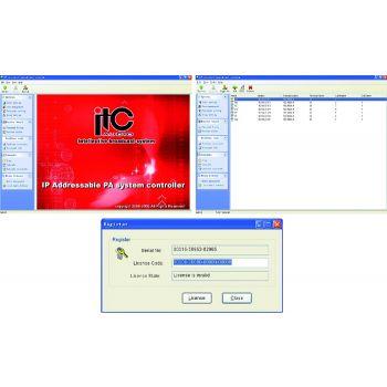 ITC Audio T-6700R ซอร์ฟแวร์สำหรับ IP Network Audio  รองรับ Windows 7, 8, Windows 10
