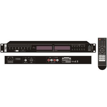 ITC Audio T-2221 CD/MP3 Player with AM/FM Tuner, with USB/SD