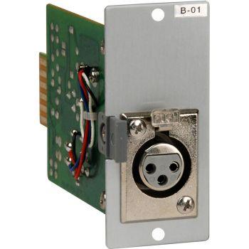 TOA B-01F XLR Female Input Module for 900 Series Amplifiers
