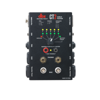 DBX CT-2 เครื่องทดสอบสายสัญญาณ Cable tester with many common connectors such