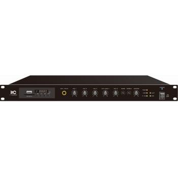 ITC Audio T-500DTB เพาเวอร์มิกเซอร์ 500 วัตต์ 4-16 โอห์ม 100V Line พร้อม MP3 / Tuner / Bluetooth & USB