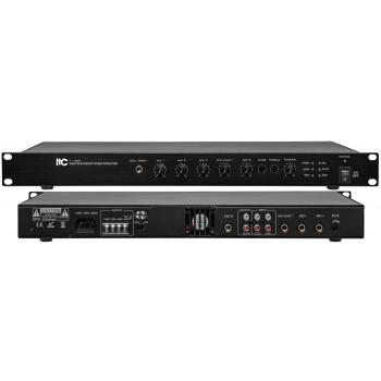 ITC Audio T-120H เพาเวอร์มิกเซอร์ 120 วัตต์ 4 mic,2 aux,100V/70V