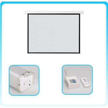 Razr EMW-S144 จอรับภาพทำงานด้วยมอเตอร์ไฟฟ้า Screen Fabric Matte White Ratio 1:1