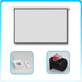 RAZR AHW-H106 จอรับภาพทำงานด้วยมอเตอร์ไฟฟ้า Motorized Screen 106 นิ้ว เนื้อ HW สัดส่วน 16:9