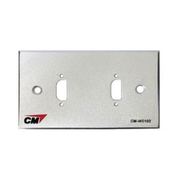 CM CM-W5102HD Inlet / Outlet Plate with HD MI 2 Port  แผ่นเปล่าสำหรับ HDMI 2 ช่อง