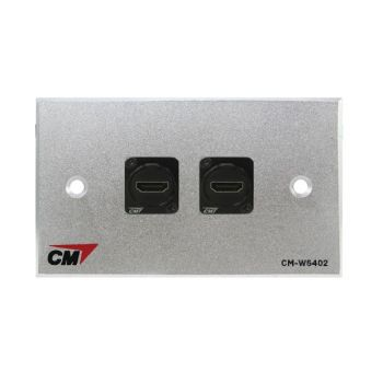 CM CM-W5102HDX Audio Video Inlet / outlet Plate with HDMI D Shell , 2 Port Series 3  แผ่นติด HDMI แบบตรง 2 ช่อง