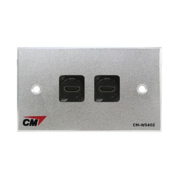 CM CM-W5102HDXX Audio Video Inlet / outlet Plate with HDMI D Shell Right Angle , 2 Port Series 4 ( แผ่นติด HD MI แบบงอ 2 ช่อง )