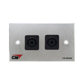 CM CM-W5102SP Audio Video Inlet / outlet Plate with Speakon , 2 Port  แผ่นติด สปีคคอน 2 ช่อง