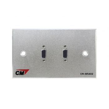 CM CM-W5402VF Video Inlet / Outlet Plate Video with VGA , 2 Port  แผ่นติด VGA ตัวเมีย 2 ช่อง