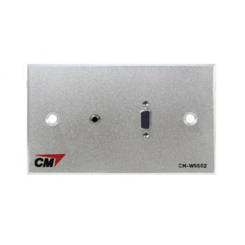 CM CM-W5502V3.5 Inlet / Outlet Plate with VGAx1 , Jack3.5mm2x1 ( แผ่นติด VGA 1 ช่อง , Jack3.5mm2 1 ช่อง )