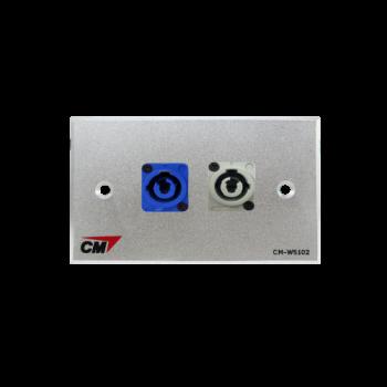 CM CM-W5102XAC แผ่นติด Powercon lineIn 1 ช่อง , lineOut 1 ช่อง