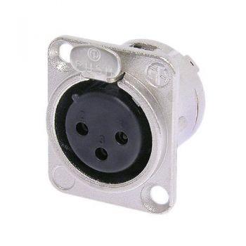 Neutrik NC3FD-L-1 XLR 3 Pin Female D-size receptacle