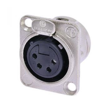 Neutrik NC4FD-L-1 XLR 4 Pin Female D-size receptacle