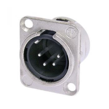 Neutrik NC4MD-L-1 XLR 4 Pin Male D-size receptacle
