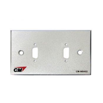 CM CM-W5402 Inlet / Outlet Plate with VGA 2 Port  แผ่นเปล่าสำหรับ VGA 2 ช่อง