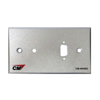 CM CM-W5502 Inlet / Outlet Plate with VGAx1 , Jack3.5mm2x1 ( แผ่นเปล่าสำหรับ VGA 1 ช่อง , Jack 3.5 mm2 1 ช่อง )