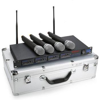 Enbao EU-4700  ไมโครโฟนไร้สาย 4 ช่อง UHF 4 x Handheld Transmitter