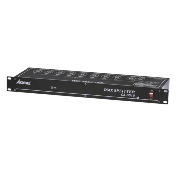 ACME CA-DS18  signal amplifier dedicated to DMX512 digital lighting control signal amplification.