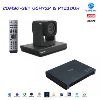 COMBO-SET UGH72P & PTZ10UH   ชุดกล้องวิดีโอคอนเฟอเรนซ์และK 2CH HDMI USB3.0 Video Capture box