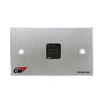 CM CM-W5101HDXX Audio Video Inlet / outlet Plate with HDMI D Shell Right A ngle , 1 Port Series 4  แผ่นติด HD MI แบบงอ 1 ช่อง