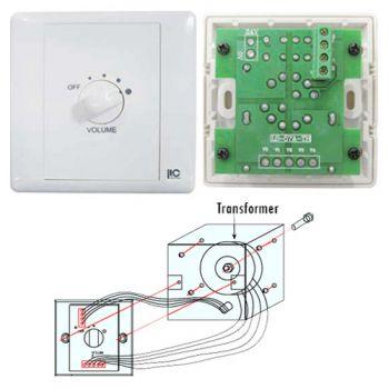 ITC Audio T-6FC/B ตัวปรับระดับเสียงขนาด 6 วัตต์