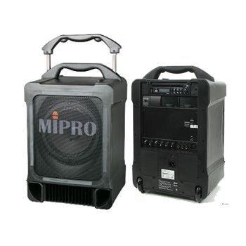 "MIPRO MA-707PAD ตู้ลำโพงอเนกประสงค์ Portable Amp 8"" 100W (CD/USB Player)"