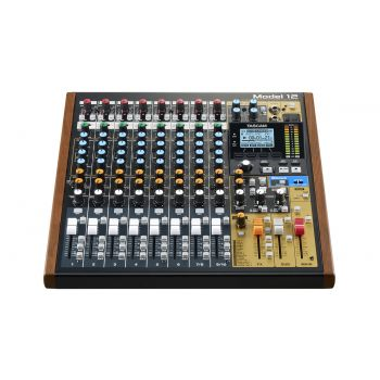 TASCAM Model 12 compact all-in-one integrated mixer designed