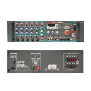 NPE MDA-1000MT เครื่องขยายเสียงพร้อมมิกเซอร์ 1000W (4,8,16Ohm,70V,100V)
