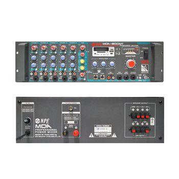 NPE MDA-800MT เครื่องขยายเสียงพร้อมมิกเซอร์ 500W (4,8,16Ohm,70V,100V)
