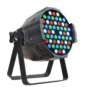 Nightsun LED 54X3(SPOT) ไฟ LED 54 x 3 w RGBW PAR LED หลอด High Power ไฟพาร์ แอลอีดี 3 วัตต์ จำนวน 54 หลอด โคมอลูมีเนียมหล่อ สีดำ