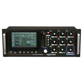 Studiomaster DIGILIVE 16RS มิกเซอร์ดิจิตอล 7″ high resolution touch screen 16 input