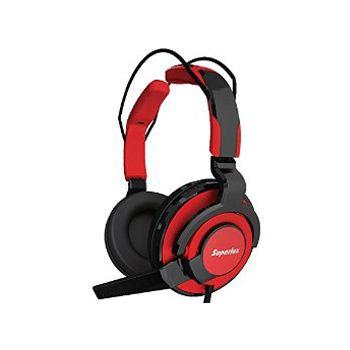SUPERLUX HMC631R หูฟังแบบครอบศีรษะพร้อมไมค์ สีแดง