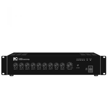ITC Audio T-60E เพาเวอร์มิกเซอร์ 60 วัตต์ 4 mic/line, 3 aux, 100V/70V and 4-16 ohms