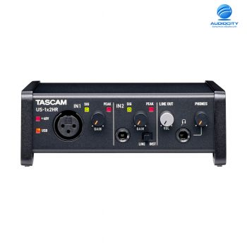 TASCAM US-1x2HR ออดิโออินเตอร์เฟส High-Resolution USB Audio Interface (2 in / 1 mic, 2 out)