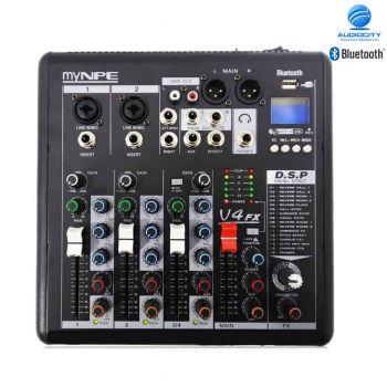 myNPE V-4FX | มิกซ์เซอร์พร้อมเอฟเฟคแท้ มีช่องต่อ USB MP3 และ ฟังก์ชั่น Bluetooth
