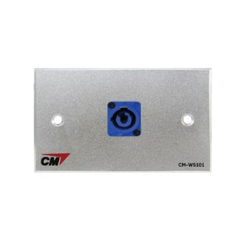 CM CM-W5101XACI Audio Video Inlet / outlet Plate with Powercon In , 1 Port  แผ่นติด Powercon lineIn 1 ช่อง