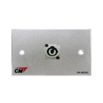 CM CM-W5101XACO Audio Video Inlet / outlet Plate with Powercon Out , 1 Port  แผ่นติด Powercon lineOut 1 ช่อง