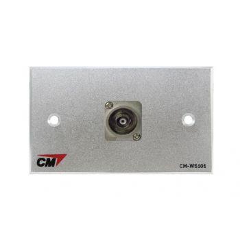 CM CM-W5101XB Audio Video Inlet / outlet Plate With BNC , 1 Port  แผ่นติด BNC 1 ช่อง