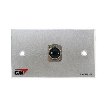 CM CM-W5101XEF Audio Video Inlet / outlet Plate with Jack RJ45 D Feed Thru , 1 Port  แผ่นติด Jack RJ45 ติดแท่นแบบต่อกลาง 1 ช่อง