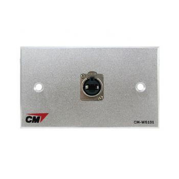 CM CM-W5101XEP Audio Video Inlet / outlet Plate with Jack RJ45 D Mount , 1 Port  แผ่นติด Jack RJ45 ติดแท่นแบบย้ำ 1 ช่อง