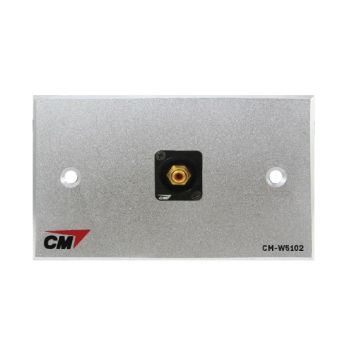 CM CM-W5101XR Audio Video Inlet / outlet Plate with RCA D Shell ,1 Port  แผ่นติด RCA แบบ Shell 1 ช่อง