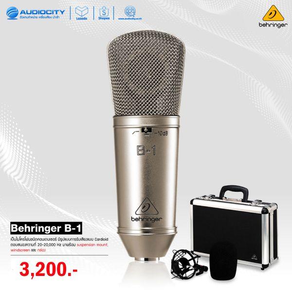 Behringer B-1  ไมโครโฟน Gold-Sputtered Large-Diaphragm Studio Condenser Microphone