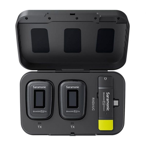 Saramonic Blink 500 Pro B6  ไมโครโฟนหนีบปกไร้สายคู่ คลื่น 2.4 GHz Type-C Devices