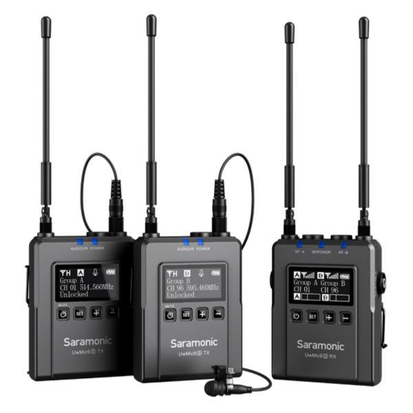 Saramonic UwMic9S Kit 2   ชุดไมโครโฟนไร้สาย Advanced 2-Person Wireless UHF Lavalier System