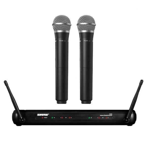 SHURE SVX288A/PG58-M19 ไมโครโฟนไร้สายแบบไมค์คู่ คลื่นความถี่ 694-703 MHz UHF Wireless Microphone