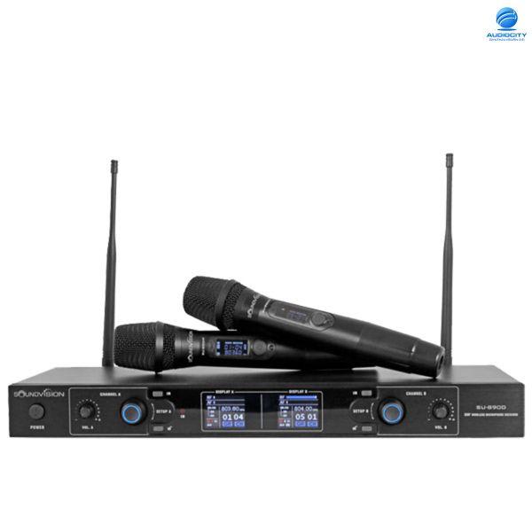 Soundvision SU-890D/HT ชุดไมค์ลอย มือถือคู่ ย่าน UHF 803.3 ~ 805.7MHz
