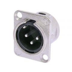 Neutrik NC3MD-L-1 | ขั้วต่อสายสัญญาณ ตัวเมีย ติดแทน ติดพาแนล ใช้กับสายสัญญาณ Balance XLR 3 Pin Male D-size receptacle
