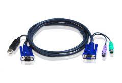 ATEN 2L-5503UP   สาย USB KVM Cable 3M for CS91XX, CS8XA, KH98